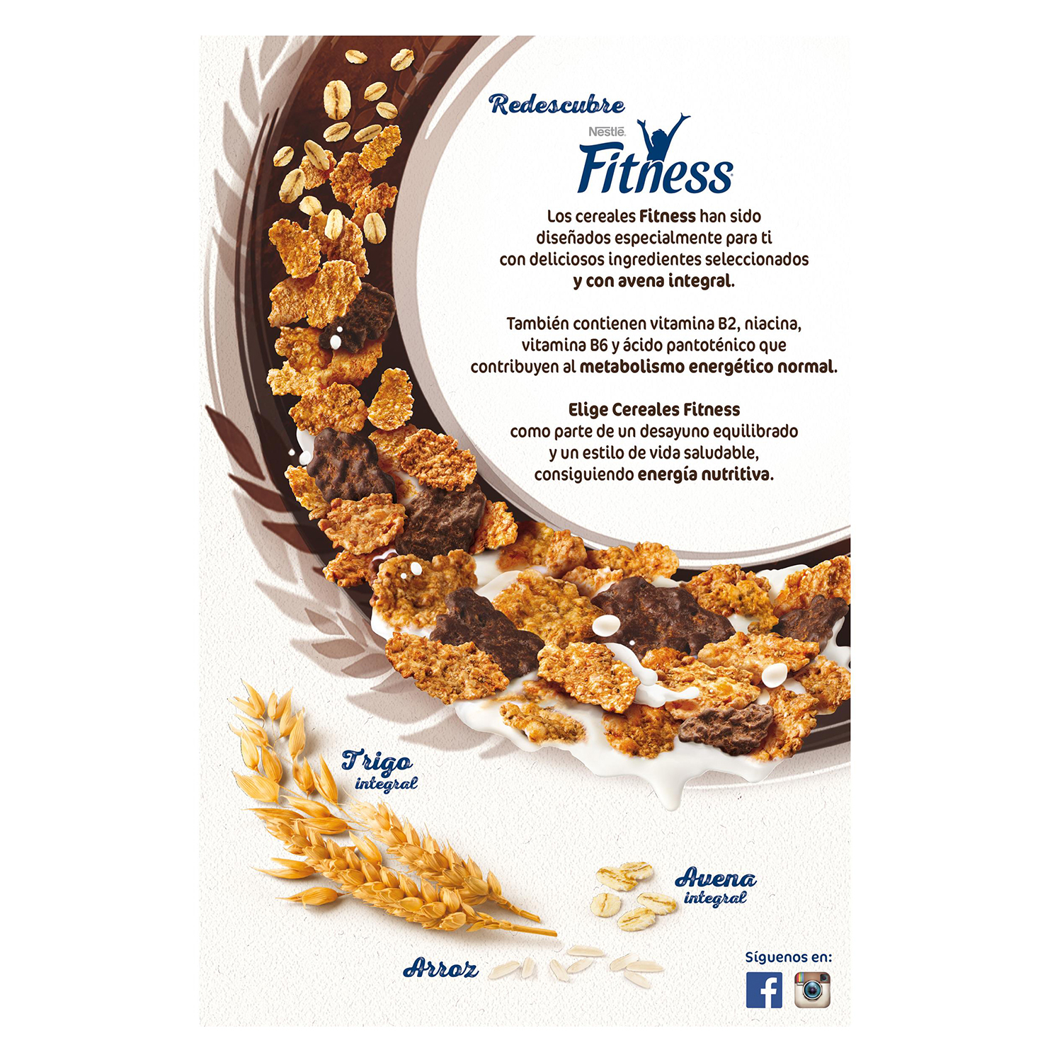 Cereales integrales con chocolate negro Fitness Nestlé 600 g. - 2