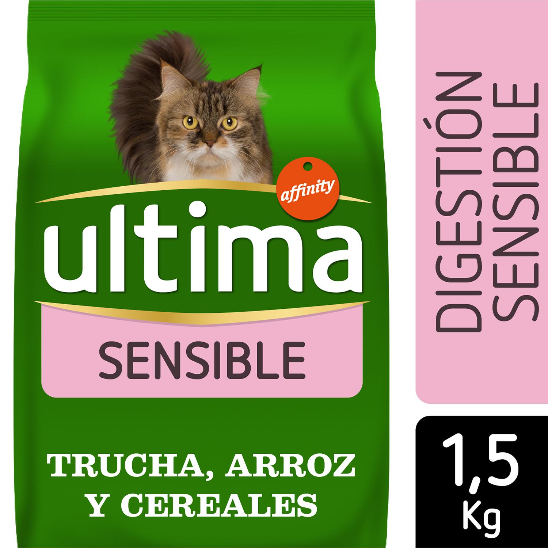 Alimento Gato Seco Adulto Digestión Delicada con Trucha -