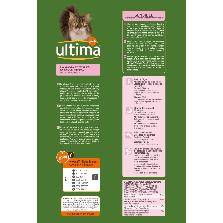Alimento Gato Seco Adulto Digestión Delicada con Trucha - 2