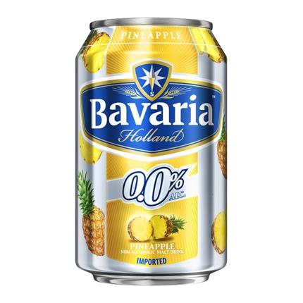 Cerveza Bavaria 0,0 sin alcohol con piña lata 33 cl.