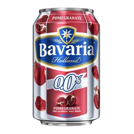 Cerveza Bavaria 0,0 sin alcohol con granada lata 33 cl.
