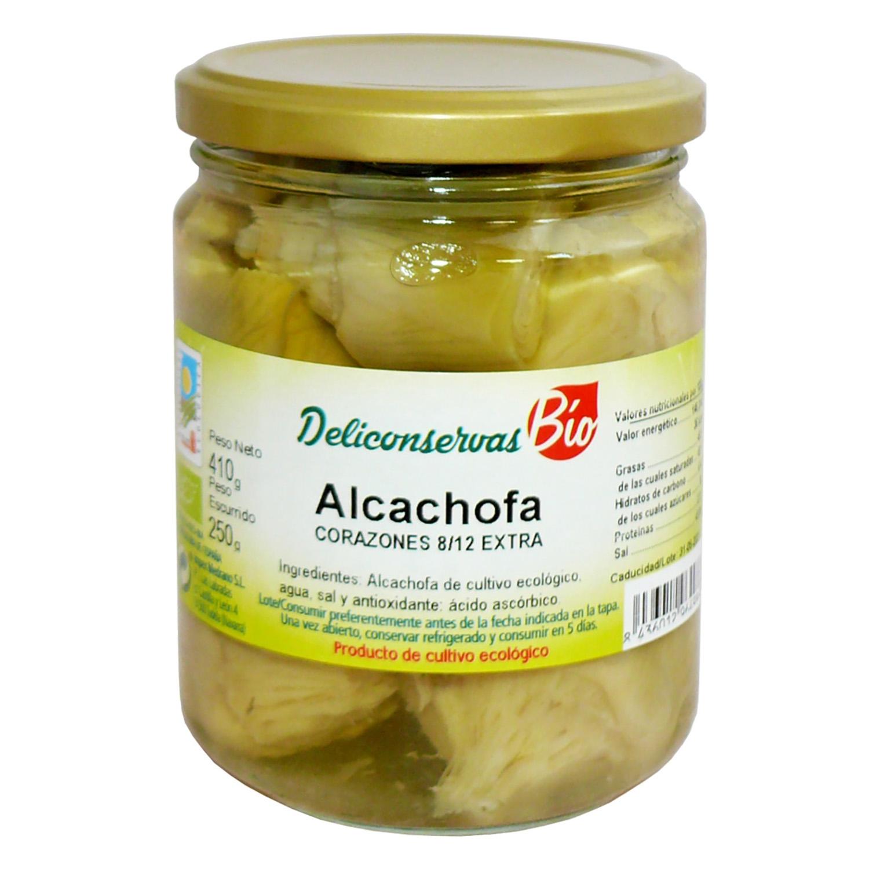 Corazón de alcachofa 8/12 ecológico Deliconservas 250 g.