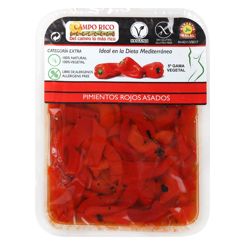 Pimiento asado rojo cortado Campo Rico 350 g