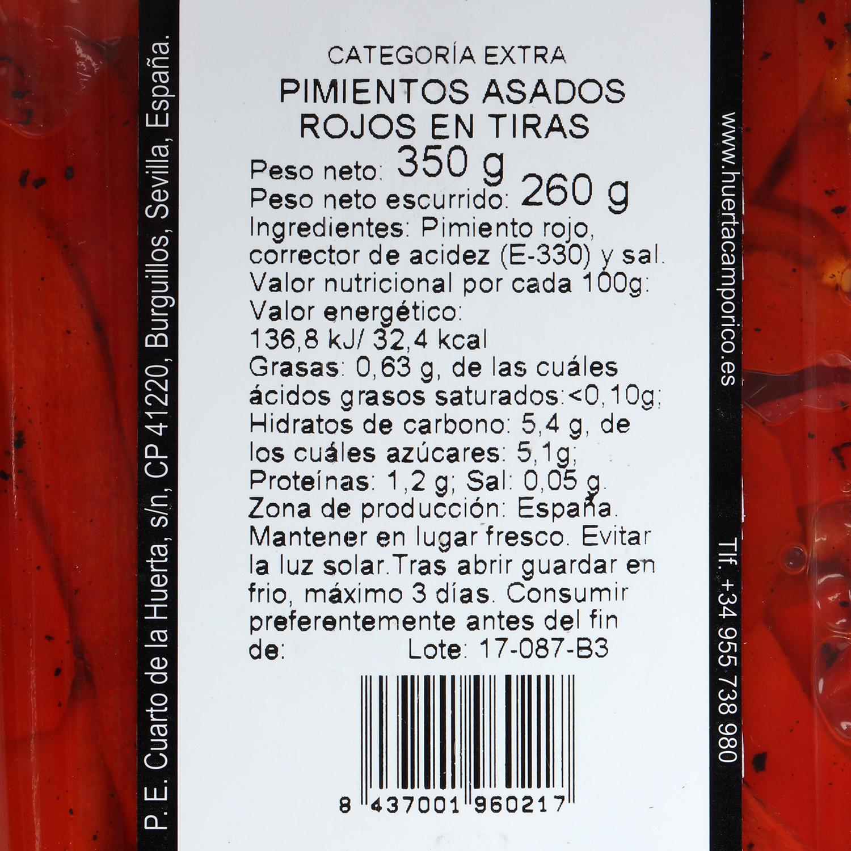 Pimiento asado rojo cortado Campo Rico 350 g - 2
