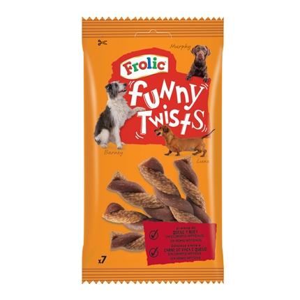 Snack para Perro Frolic Tiras Enrolladas de Carne 7 Unidades