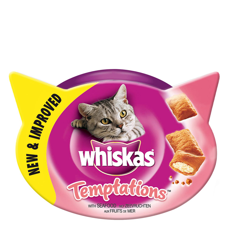 Snacks para Gatos Whiskas Temptations Sabores del Mar 60 gr