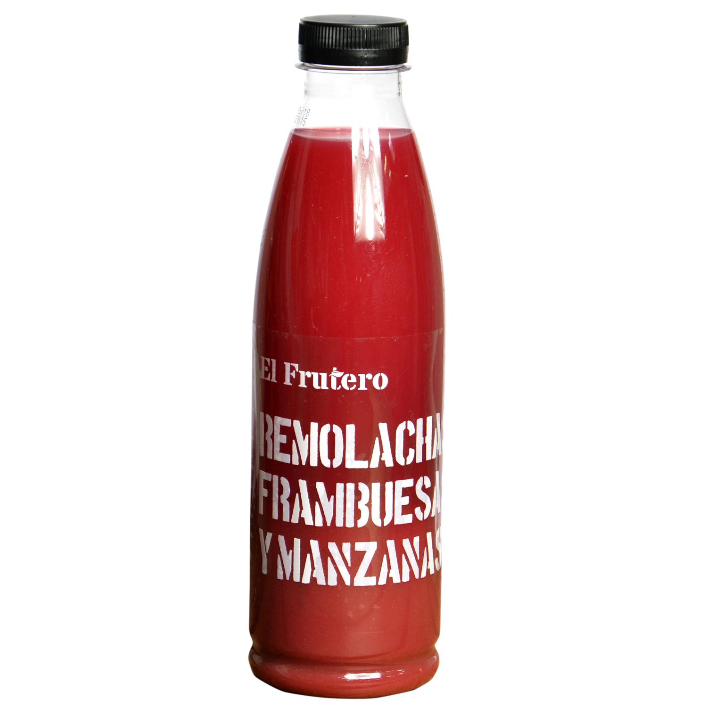 Zumo de remolacha, frambuesa y manzana El Frutero botella 75 cl. -