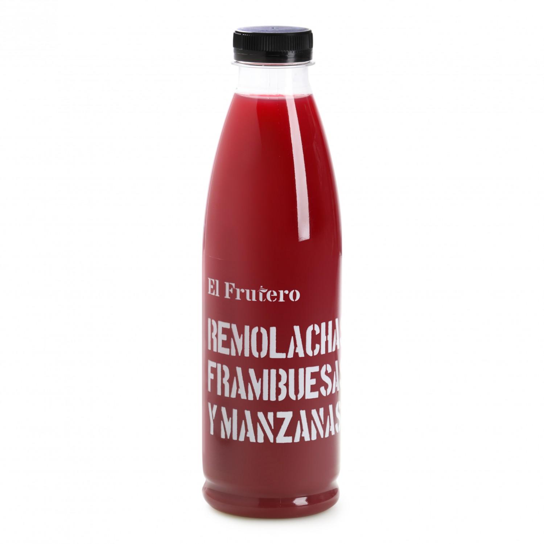 Zumo de remolacha, frambuesa y manzana El Frutero botella 75 cl. - 2