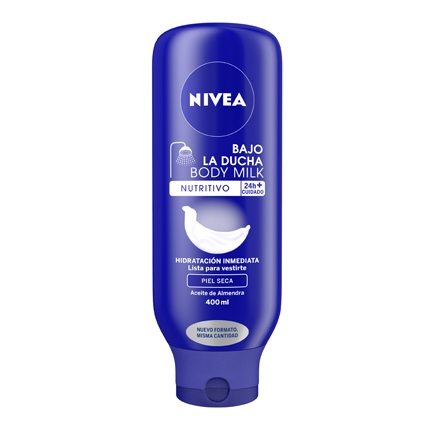 Body milk nutritivo Bajo la Ducha para piel seca Nivea 400 ml.