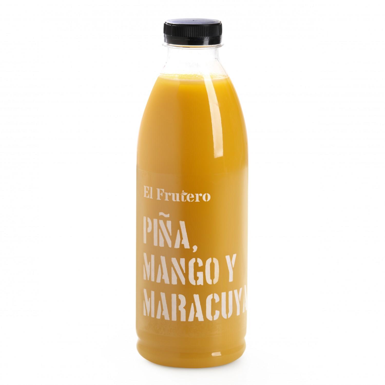 Zumo de piña, mango y maracuyá El Frutero botella 1 l. - 2