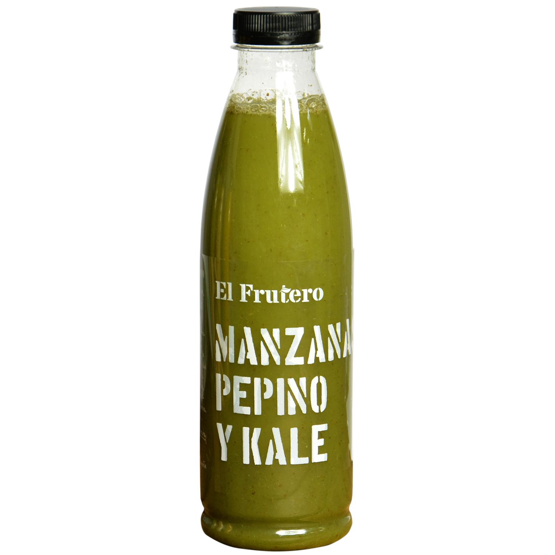 Zumo de kale, pepino, manzana El Frutero botella 75 cl. -