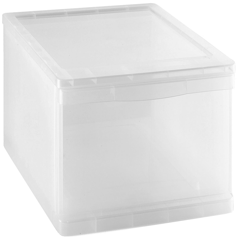 Cajón organizador de Plástico Carrefour Home 20 Litros - Transparente
