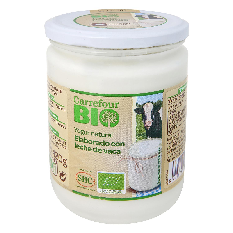 Yogur natural de leche de vaca