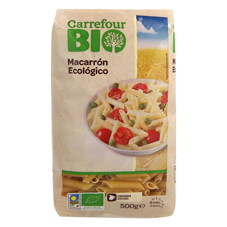 Macarrones ecológicos Carrefour Bio 500 g.