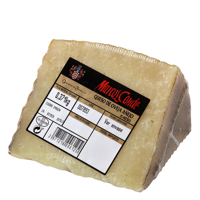 Queso puro de oveja añejo graso 9 meses curación Marcos Conde al corte 300 g aprox