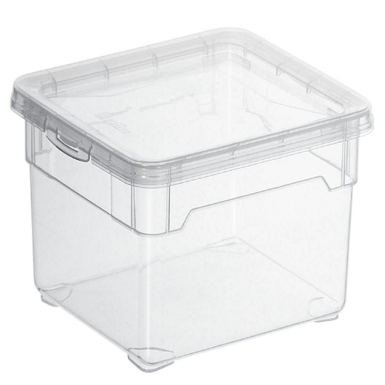 Caja con tapa de Plástico Basic Carrefour Home 2 Litros - Transparente