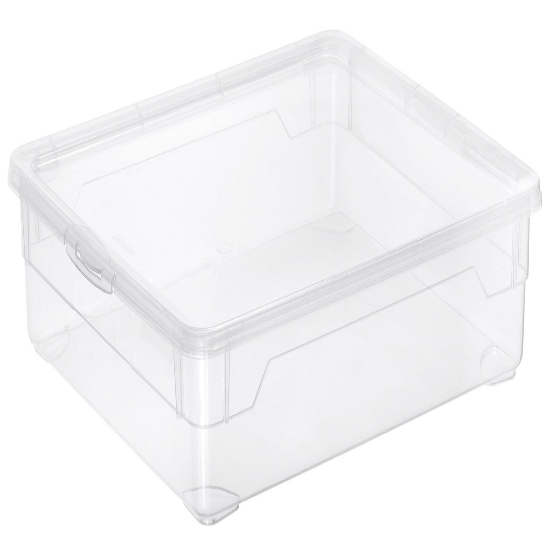Caja con tapa de Plástico Basic 9 Litros Carrefour Home - Transparente