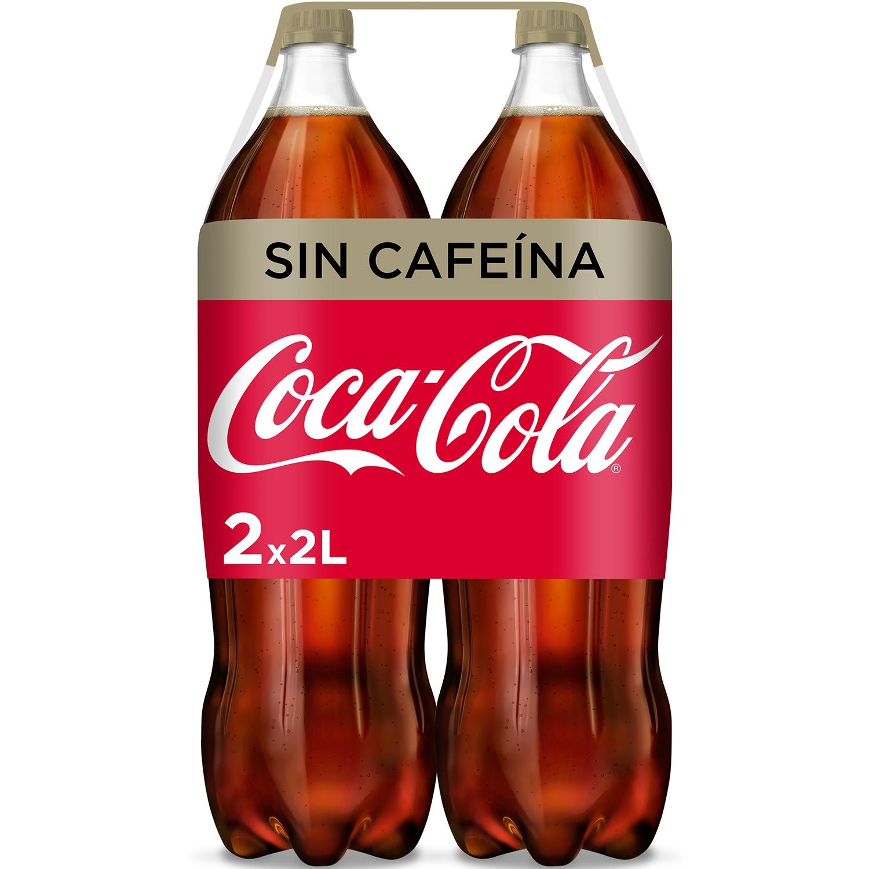 Refresco de cola Coca Cola sin cafeína pack de 2 botellas de 2 l.