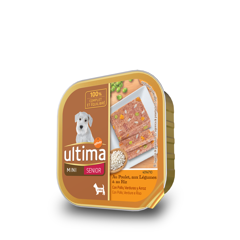 Alimento Perro Húmedo Mini Senior Pollo
