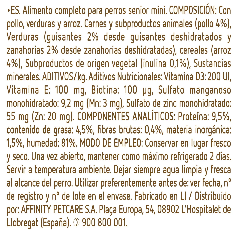 Alimento Perro Húmedo Mini Senior Pollo - 3