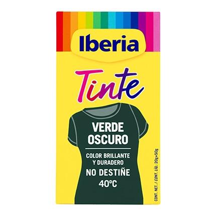 Tinte para la ropa verde oscuro 40ºC sobres + fijador Iberia 1 ud.