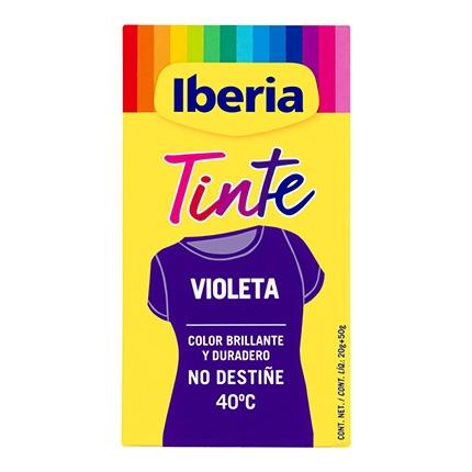 Tinte para la ropa violeta 40ºC 2 sobres + fijador Iberia 1 ud.
