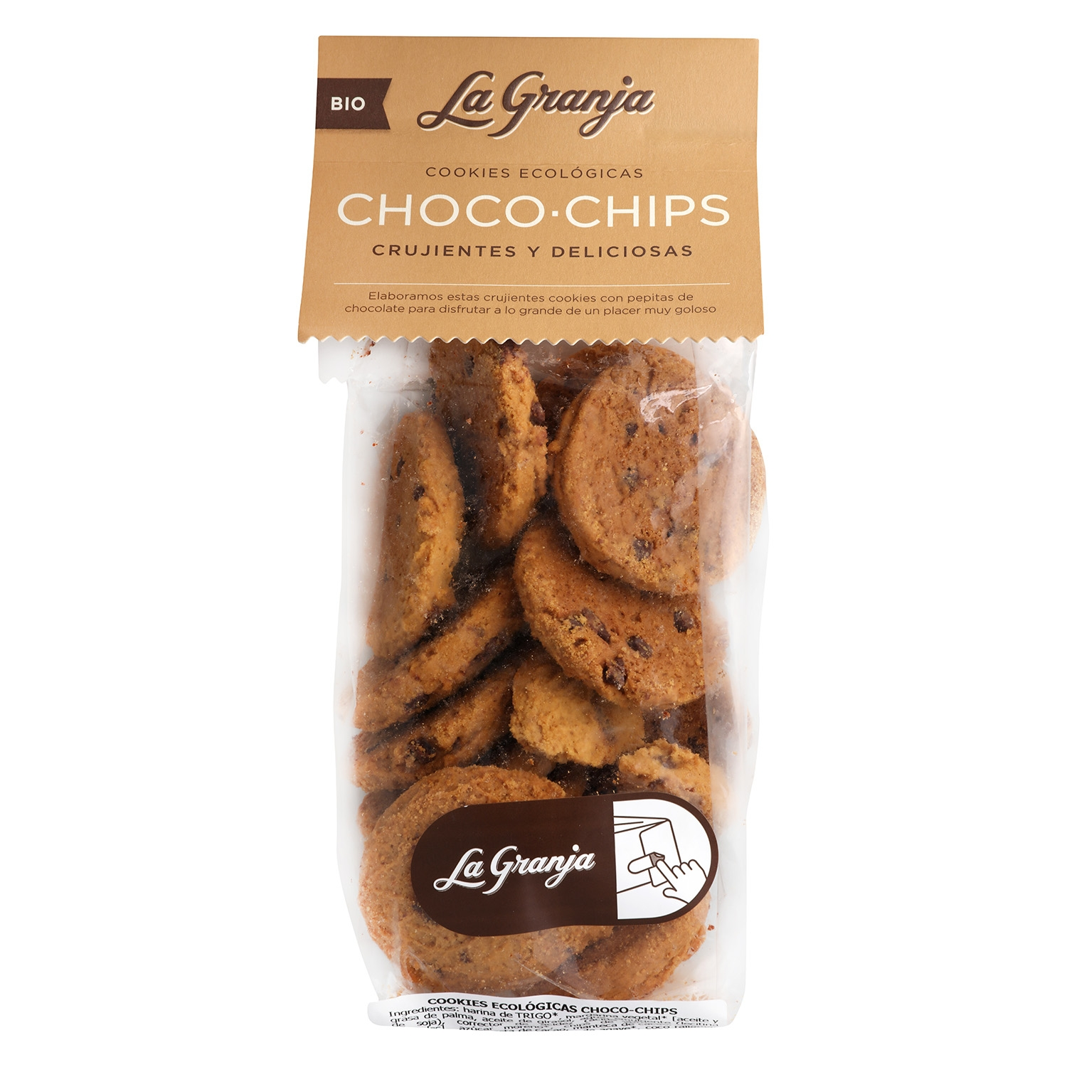 Galletas con pepitas de chocolate ecológicas La Granja 240 g.