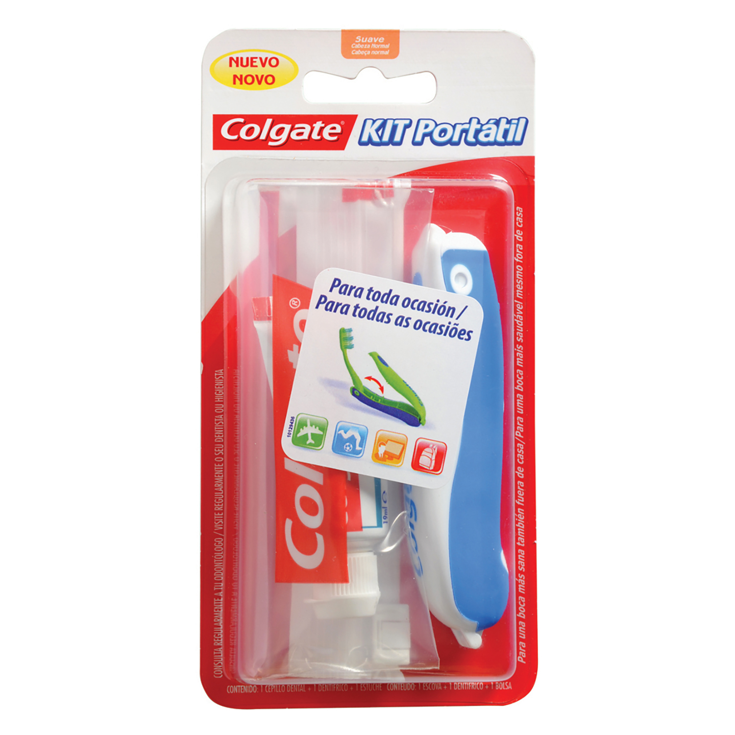 Pack Bucal de Viaje Neceser+Pasta Dental+Cepillo Dental Colgate 1 ud.