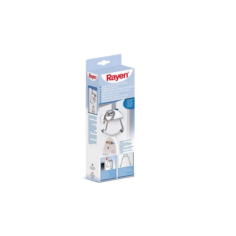 Colgador de tabla de planchar de acero RAYEN  42 x 12,5 cm - Gris -