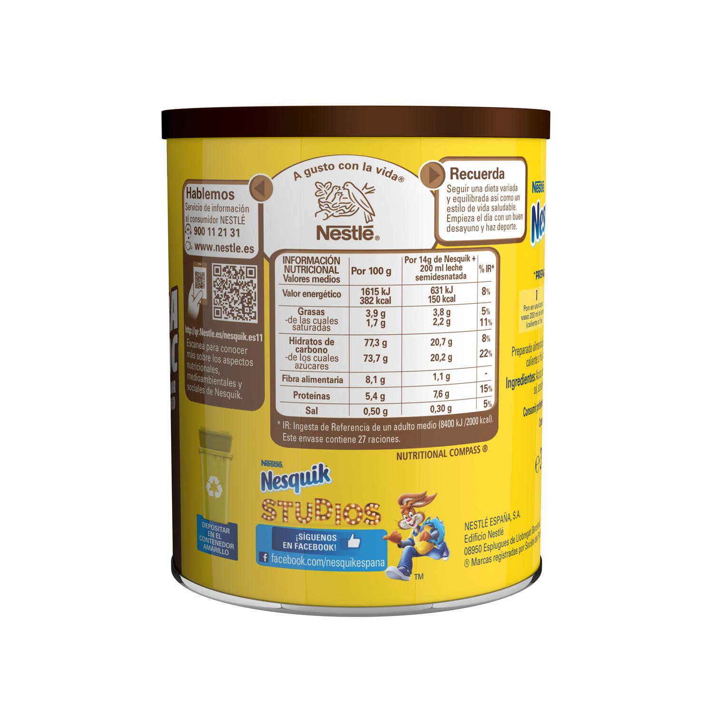 Cacao soluble instantáneo Nestlé Nesquik sin gluten 390 g. -