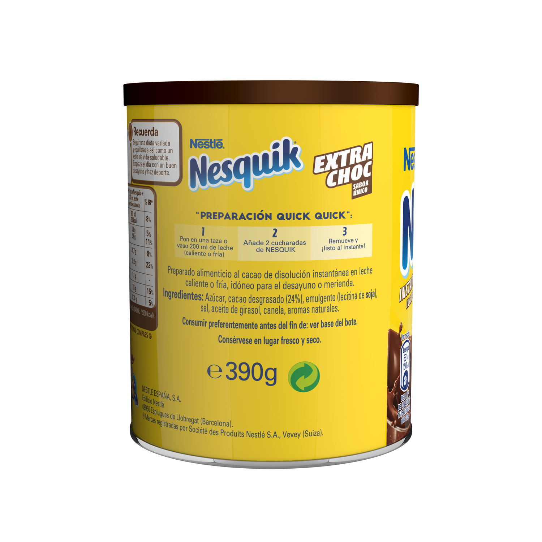 Cacao soluble instantáneo Nestlé Nesquik sin gluten 390 g. - 2
