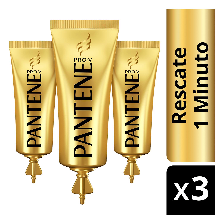 Ampollas Rescate 1 Minuto para cabello teñido o dañado Pantene 3 ud. -