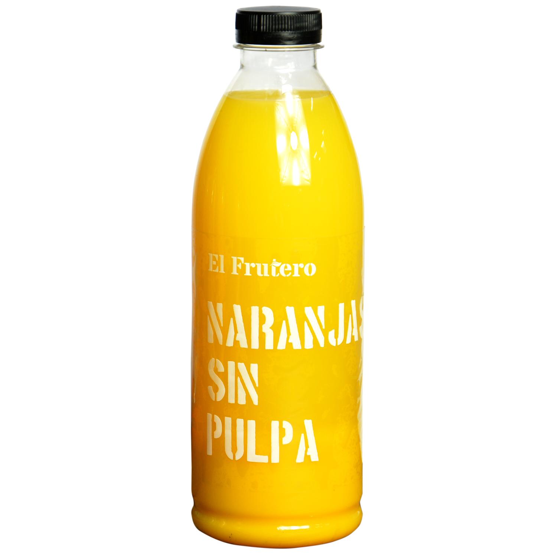 Zumo de naranja El Frutero sin pulpa botella 1 l. -