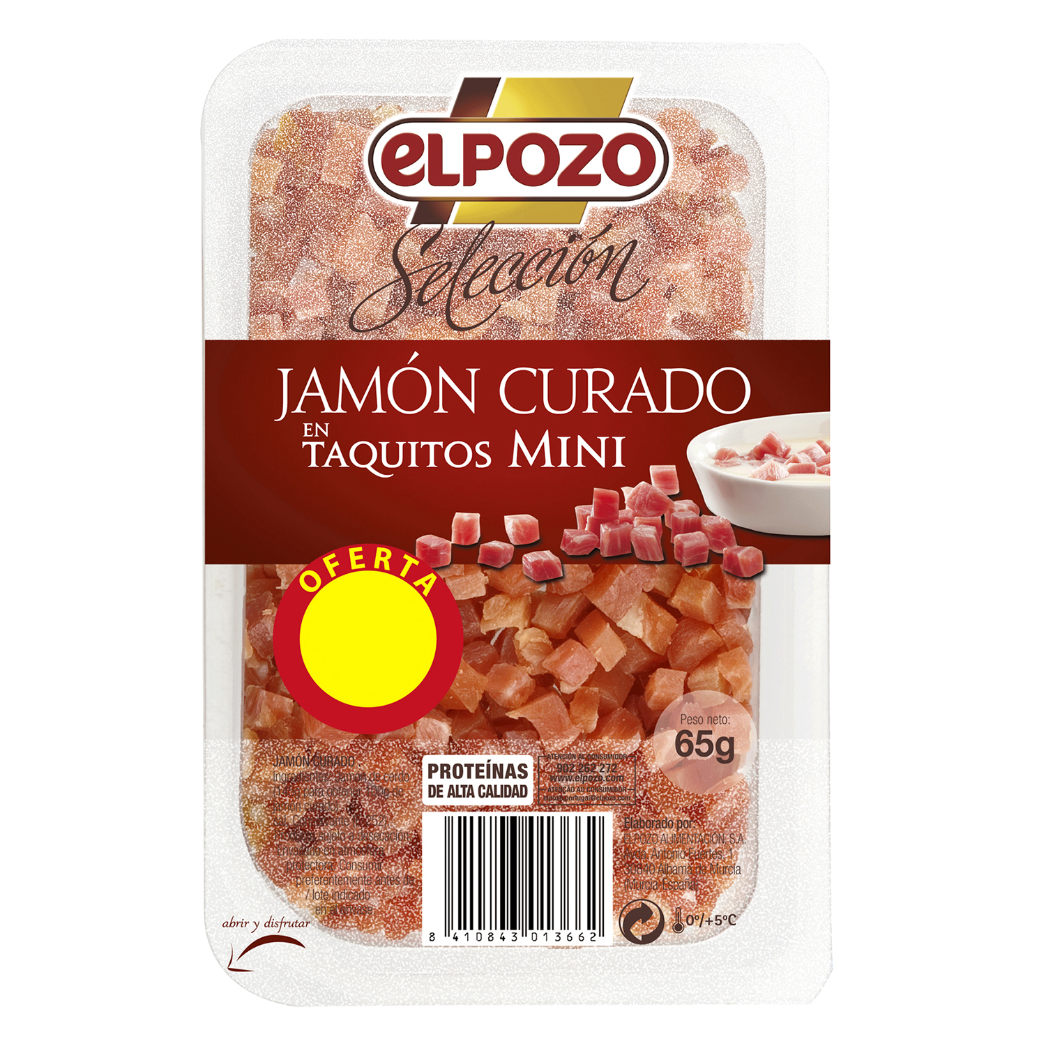 Jamón taquitos mini