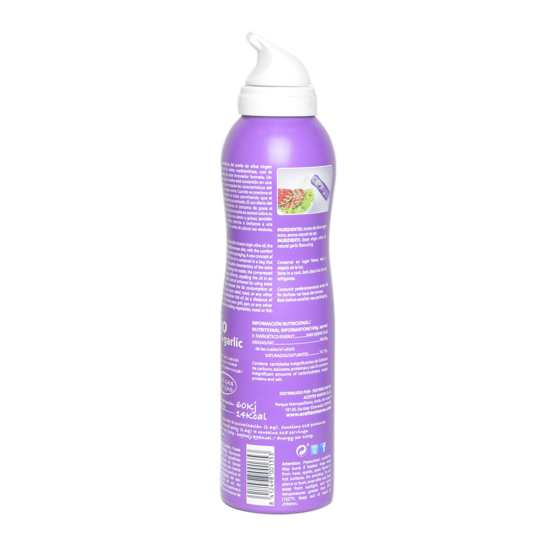 Aceite de oliva virgen extra Maeva sabor ajo spray 200 ml. -