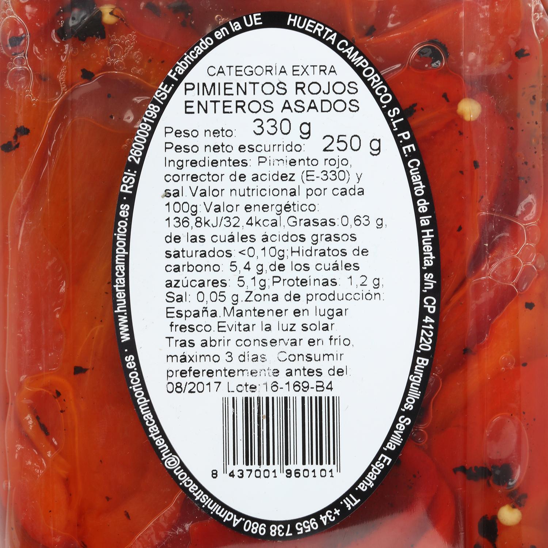 Pimiento asado entero rojo Campo Rico 330 g  - 2