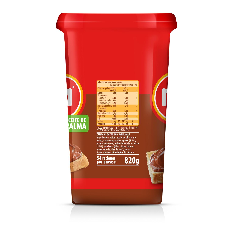 Crema de cacao con avellanas original Nocilla 820 g. -