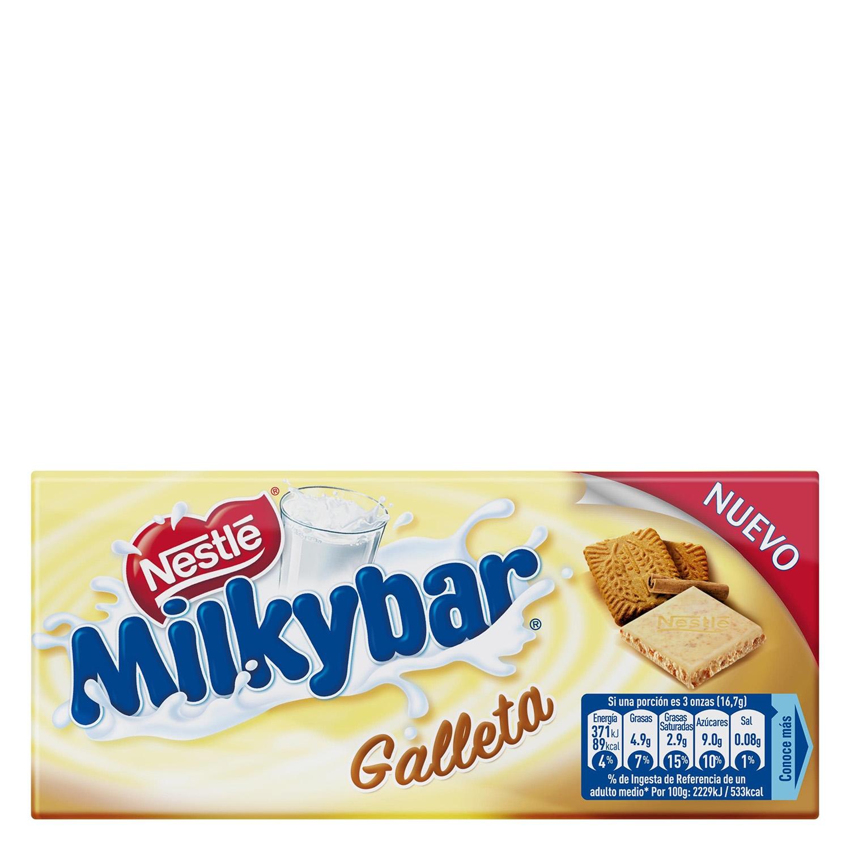 Chocolate blanco con galleta