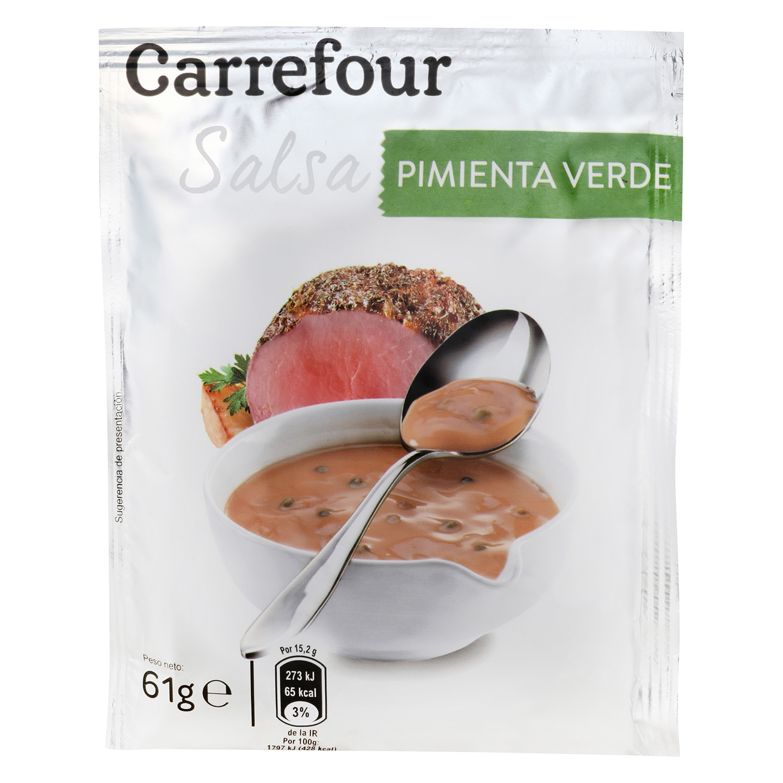 Salsa pimienta verde Carrefour sobre 61 g.