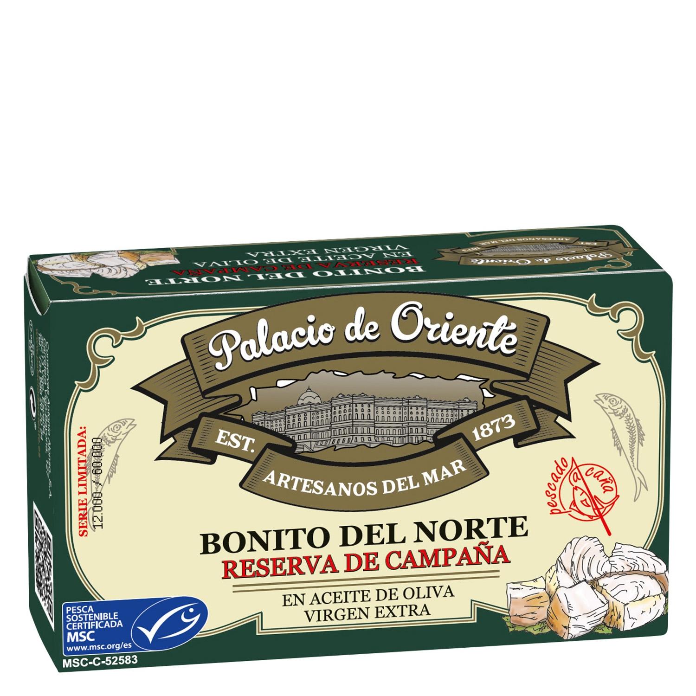 Bonito del norte en aceite de oliva Palacio de Oriente 82 g.