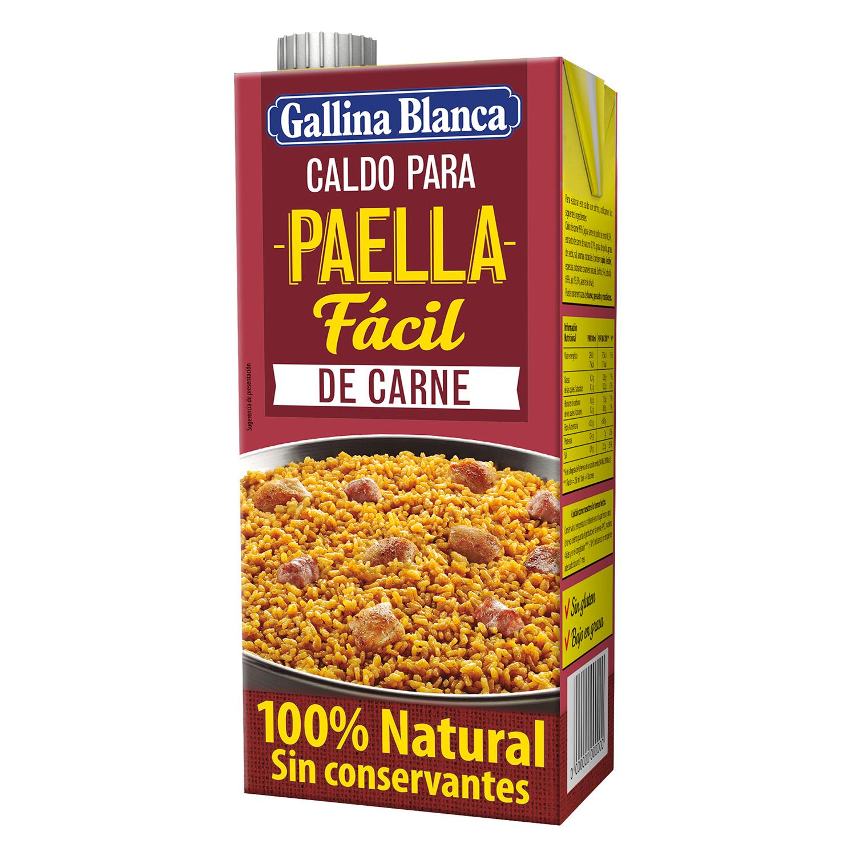 Caldo para paella de carne Gallina Blanca sin gluten 1 l.