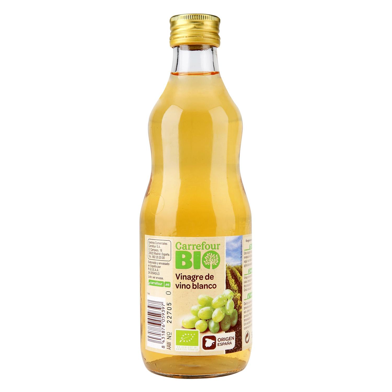 Vinagre de vino blanco ecológico Carrefour Bio 500 ml.