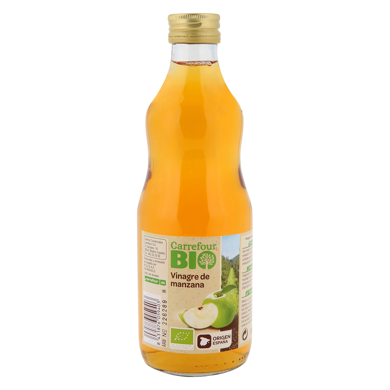 Vinagre de manzana ecológico Carrefour Bio 500 ml.