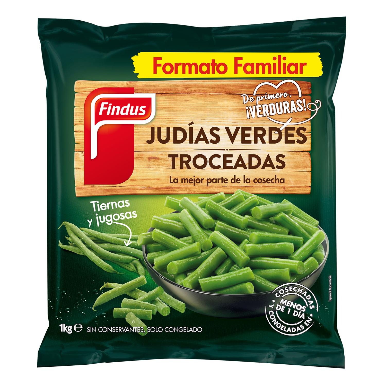 Judías verdes troceadas Findus 1 kg.