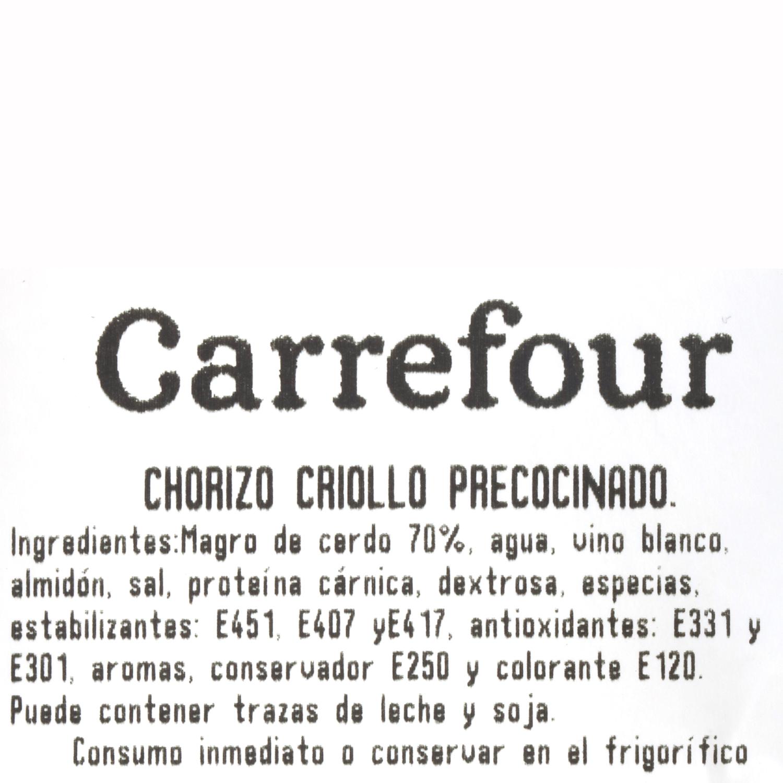 Chorizo criollo precocinado Carrefour 500 g aprox - 3