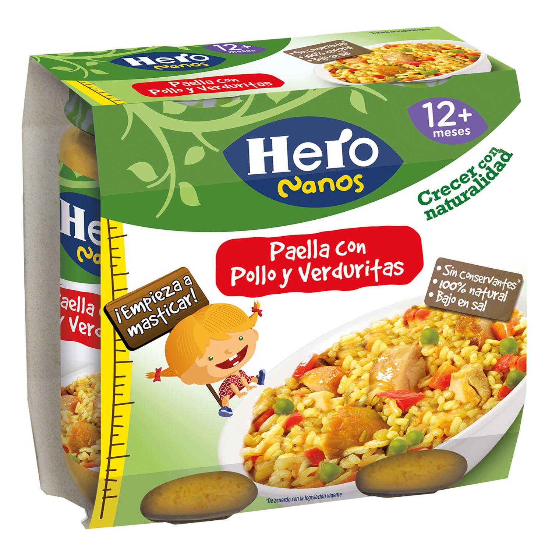 Paella con Pollo y verdura para niños