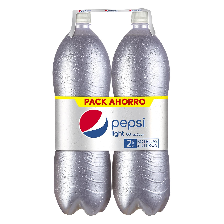 Refresco de cola Pepsi light pack de 2 botellas de 2 l.