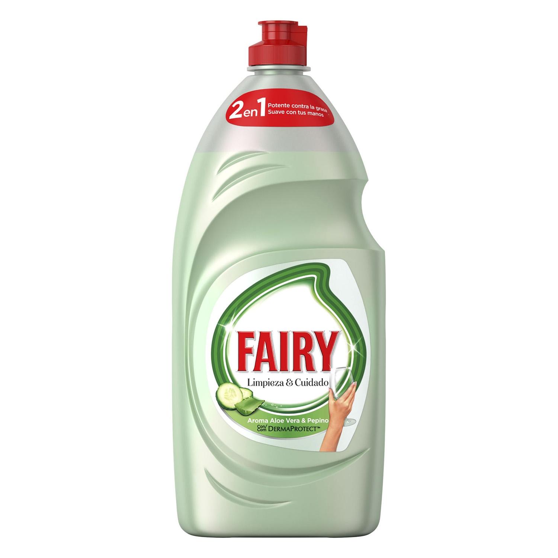 Lavavajillas a mano aroma aloe vera y pepino Fairy 1015 ml.