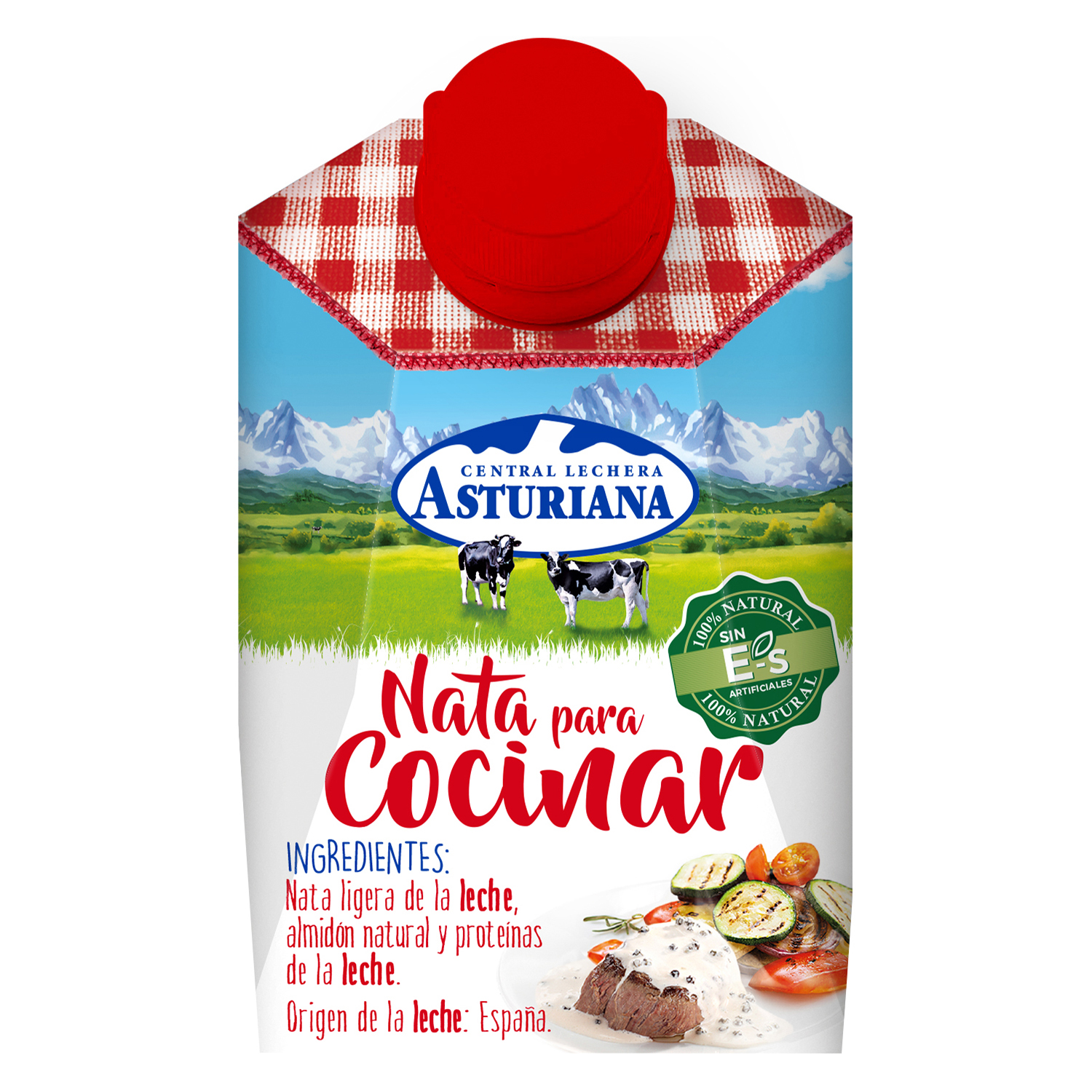 Nata para cocinar Central Lechera Asturiana 200 ml.