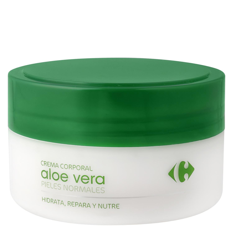 Crema corporal Aloe Vera pieles normales Carrefour 200 ml.